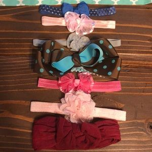 Other - INFANT girls 7 headbands- bundle- various colors
